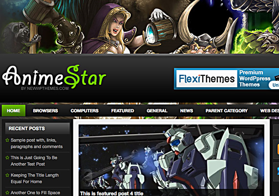 animestar 46-free-wordpress-3.0-themes