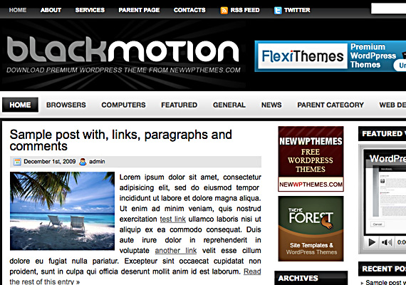 black motion 46-free-wordpress-3.0-themes
