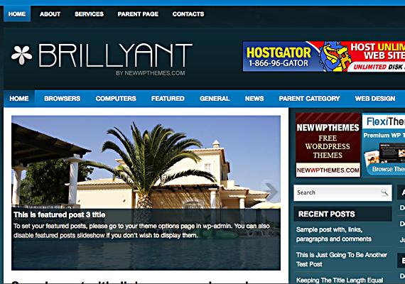brillyant 46-free-wordpress-3.0-themes