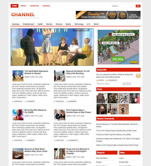 channel 46-free-wordpress-3.0-themes