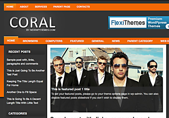 coral 46-free-wordpress-3.0-themes