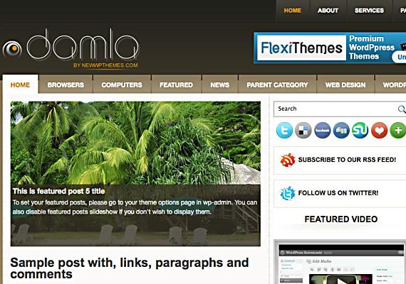 damla 46-free-wordpress-3.0-themes