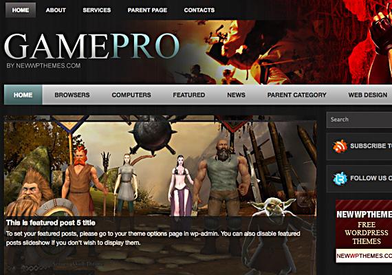 gamepro 46-free-wordpress-3.0-themes
