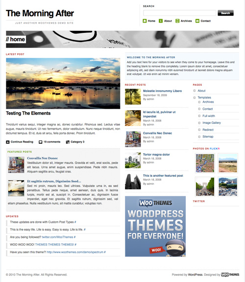 morning after 46-free-wordpress-3.0-themes