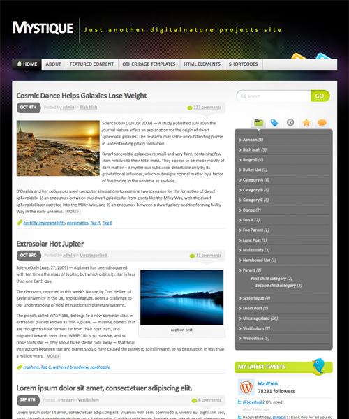 mystique 46-free-wordpress-3.0-themes
