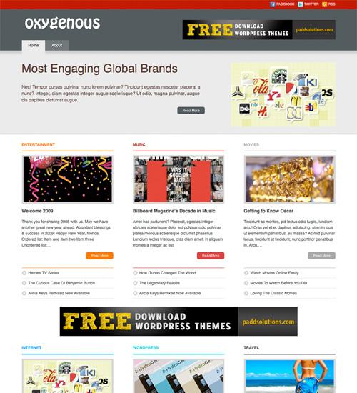 oxygenous 46-free-wordpress-3.0-themes