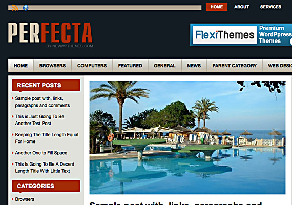 perfecta 46-free-wordpress-3.0-themes