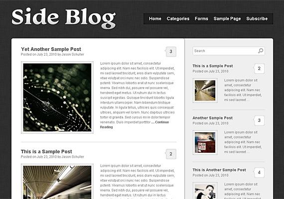side blog 46-free-wordpress-3.0-themes