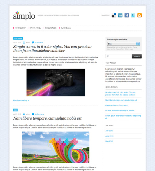 simplo 46-free-wordpress-3.0-themes