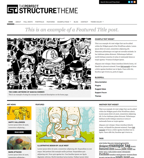 structure theme 46-free-wordpress-3.0-themes